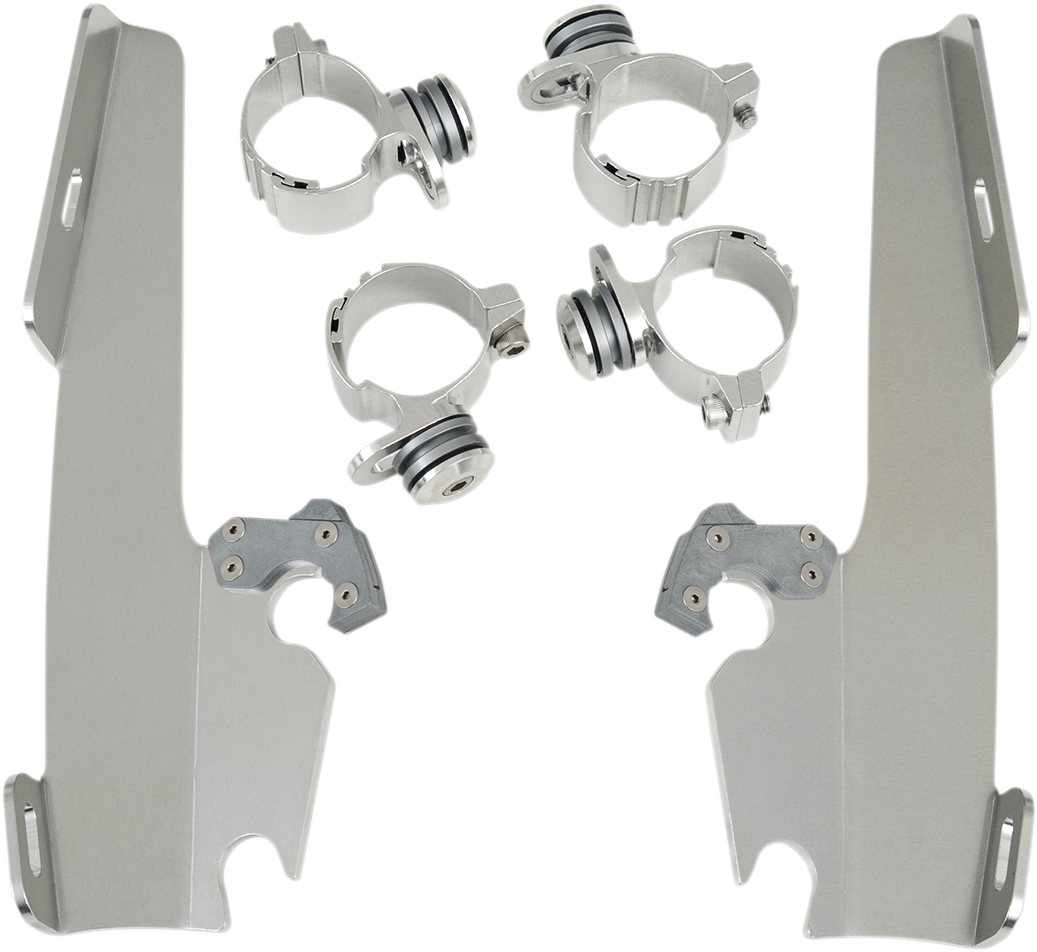 Memphis Shades Trigger Lock Windshield Mounting Kit 73-17 Harley DYNA XL FX FXD