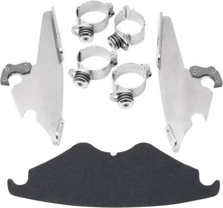 Memphis Shades Polished Trigger Lock Fairing Mounting Kit 02-11 Harley VROD