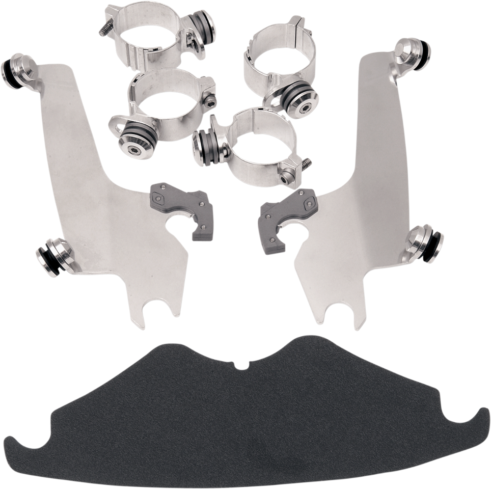 Memphis Shades Trigger Lock Windshield Mount Kit 02-11 Harley VRod VRSCAW VRSCA