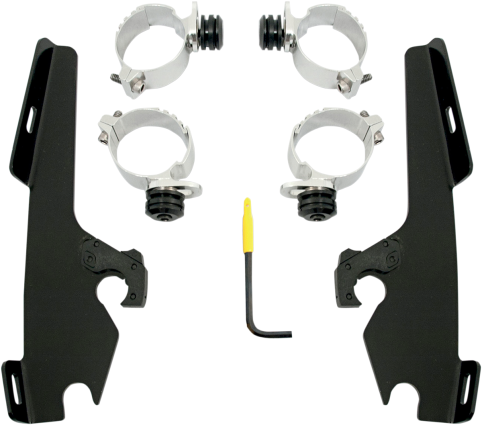 Memphis Shades Black Trigger Lock Fairing Mounting Kit 08-17 Harley DYNA FXSB