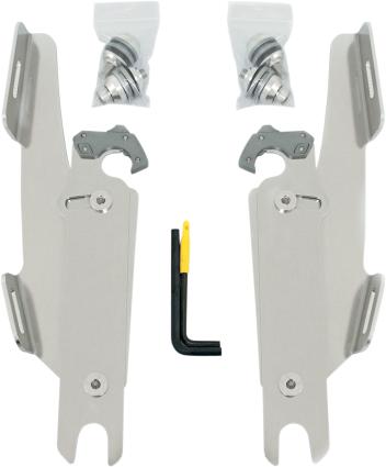 Memphis Shades Polished Trigger Lock Fairing Mounting Kit 86-17 Harley Softail