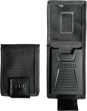 Icon Black Unisex Bi-Fold Replacement Badge holder