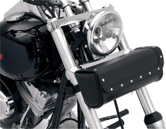 Motorcycle Tool Bag >> Saddlemen Front Fork Black Rivet Highwaymen Leather Motorcycle Tool