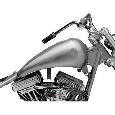 Drag Specialties Smooth Top Stretched Gas Fuel Tank 84 99 Harley Softail FLST FX