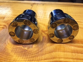 JT's Cycles Pair Exhaust  Tips Genuine .308 Caliber Bullets Harley Xl Fxd Fxr