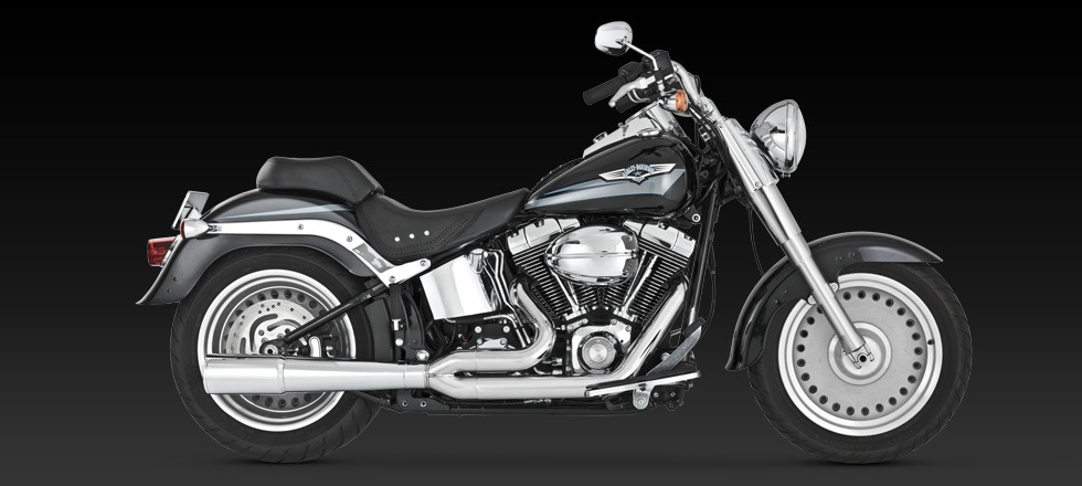 Vance Hines Pro Pipe Chrome Exhaust Harley 8611 Softail Flstn Fxstd Fxs Flstf: Harley Davidson Chrome Exhaust Pipes At Woreks.co