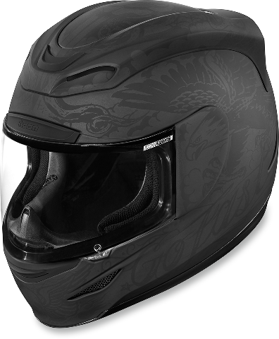 Icon Airmada Black Unisex Scrawl Full Face Motorcycle Riding Street Helmet