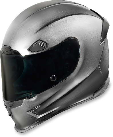 Icon Unisex Quicksilver Fullface Motorcycle Riding Street Racing Sliver Helmet