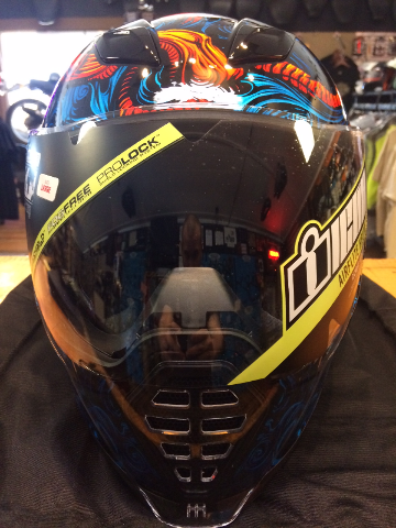 Icon Good Fortune Blue Airflite Full Face Motorcycle Street Helmet CLOSEOUT