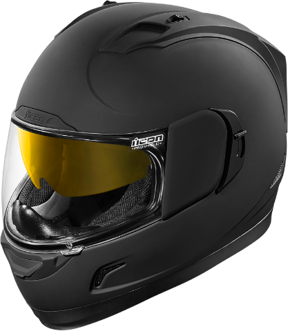 Icon Black Rubatone Alliance GT Motorcycle Full Face Drop Shield Riding Helmet