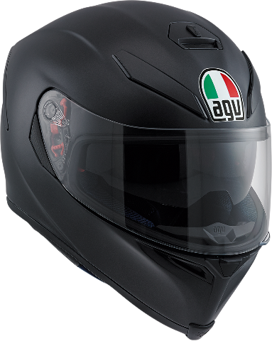 Agv Unisex Matte Black K5 Full Face Motorcycle Riding Street Racing Helmet