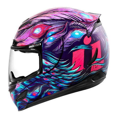 Icon Airmada Unisex Purple Opacity Full Face Motorcycle Street Racing Helmet