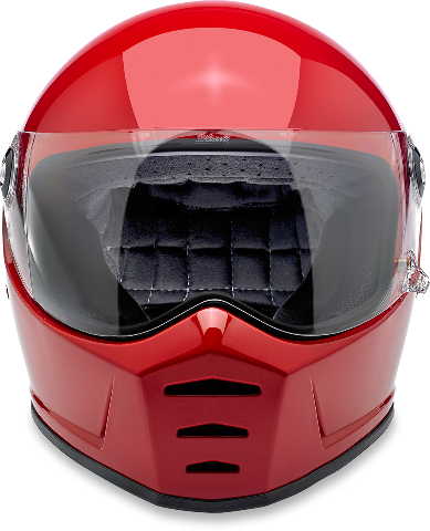 Biltwell Unisex Blood Red Lane Splitter Fullface Motorcycle Riding Street Helmet