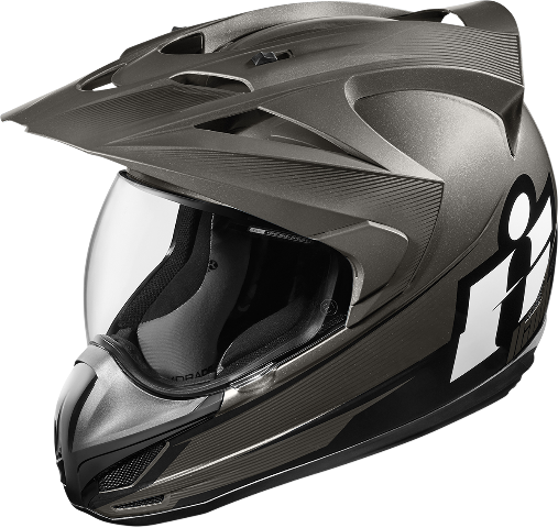 Mens Icon Black Double Stack Variant Fullface Motorcycle Riding Helmet CLOSEOUT