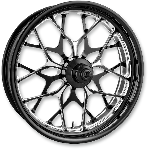 "Performance Machine Platinum ABS 21"" Galaxy Front Wheel For 14-19 Harley Touring"