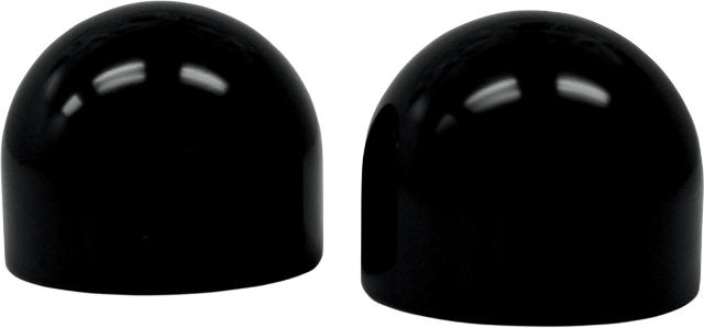 La Coppers Pair Black Dome Axle Caps 96-17 Harley Dyna Touring Softail XL FXR