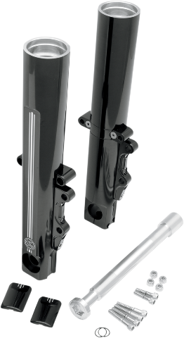 Performance Machine Dual Disc Black Lower Fork Legs for 08-13 Harley Touring