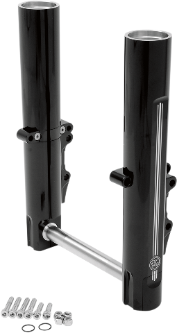 Performance Machine Dual Disc Black Lower Fork Legs for 14-17 Harley Touring
