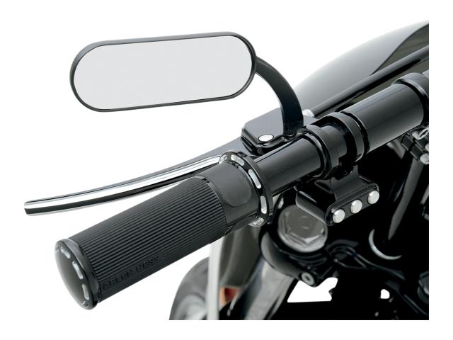 Arlen Ness Black Mini Oval Pair Mirrors Harley Davidson Fxst 13-412 13-413