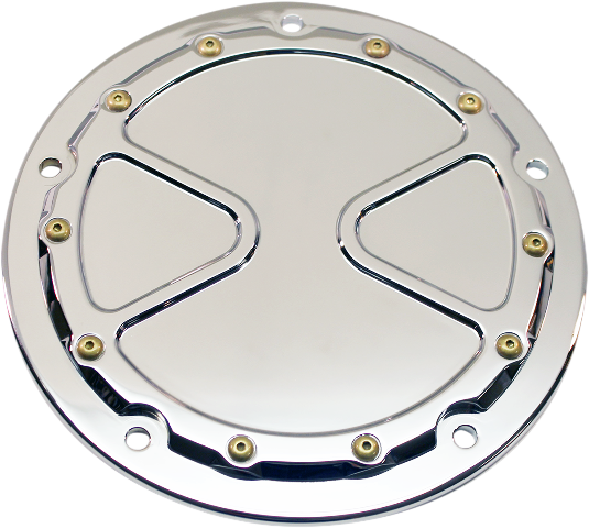 Carl Brouhard Chrome Bomber 5 Hole Derby Cover for 15-19 Harley Touring FLHR