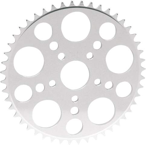 PBI Chromate 1.9 Bore 53 Tooth 520 Flat Rear Sprocket for 91-99 Harley Sportster
