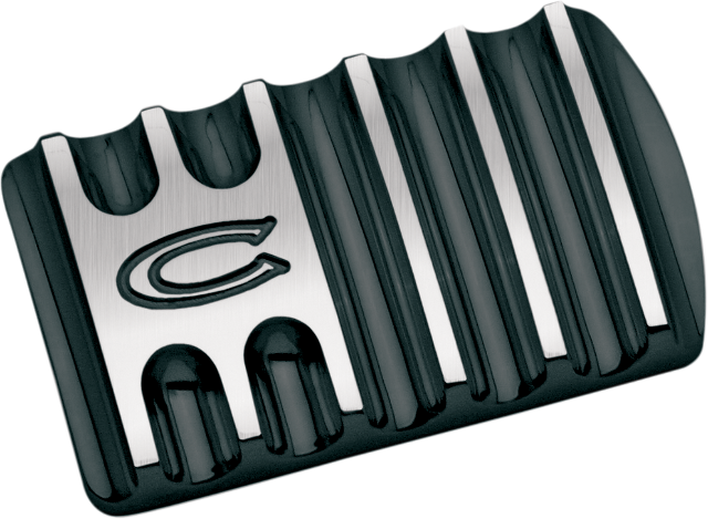 Covingtons Black Flinned Brake Pedal Pad 85-19 Harley Touring Softail FLHX FLHR