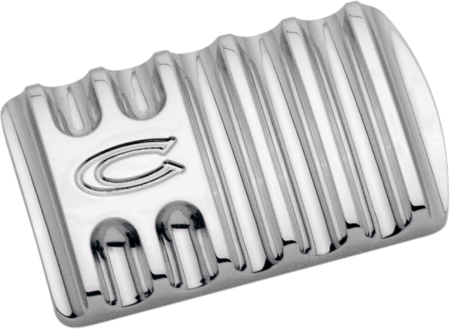 Covingtons Chrome Flinned Brake Pedal Pad 85-19 Harley Touring Softail FLHX FLHR
