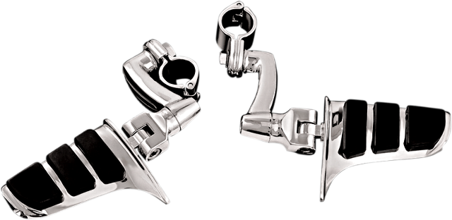 Kuryakyn 4616 Pair Chrome Sweptwing Longhorn Footpegs Harley Davidson Touring