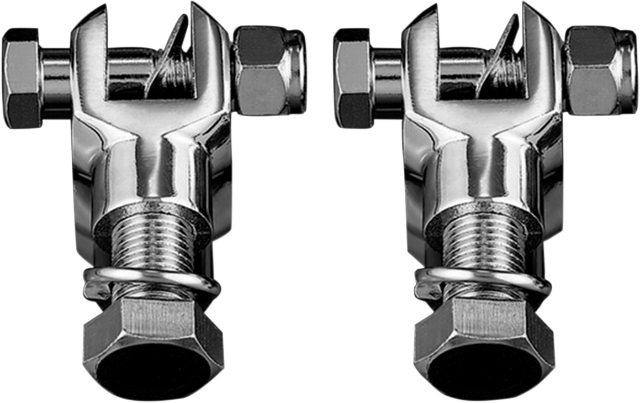 Kuryakyn 8015 Chrome Male Mount Bolt On Motorcycle Footpeg Clevis Harley Touring