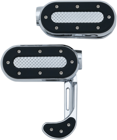 Kuryakyn 7029 Heavy Industry Chrome Motorcycle Footpegs Harley Davidson