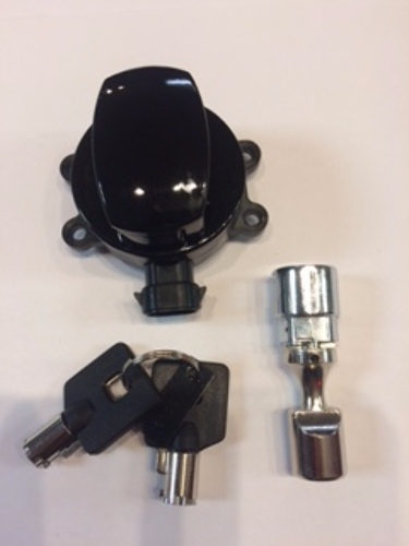 Drag Specialties Black Ignition Switch & Fork Lock  11-17 Harley Softail FLSTF