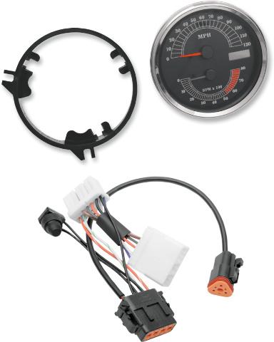 Drag Specialties MPH Speedometer Speedo Tach & Harness for 96-98 Harley Softail