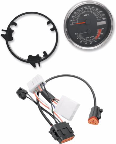 Drag Specialties MPH Speedo Speedometer Tach & Harness 1998 Harley Touring FLHR