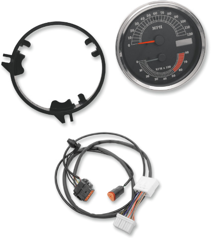Drag Specialties MPH Speedo Speedometer  Tach & Harness for 96-03 Harley Touring