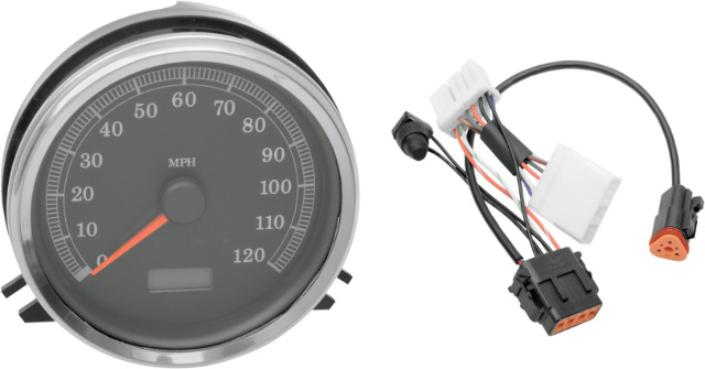 Drag Specialties MPH Speedo Speedometer & Harness for 96-98 Harley Softail FLSTN