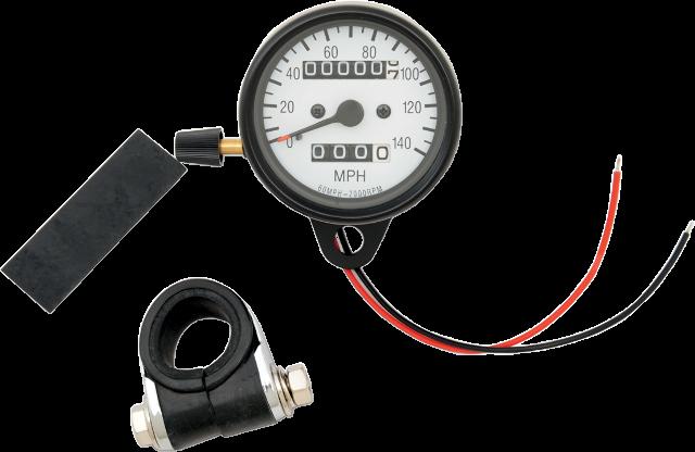 Drag Specialties Small 2:1 KPH Mechanical Speedo Speedometer Harley Davidson