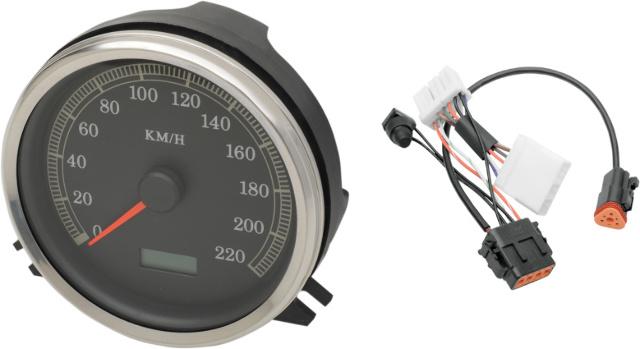 Drag Specialties KMH Speedo Speedometer & Harness for 96-98 Harley FXST FLST