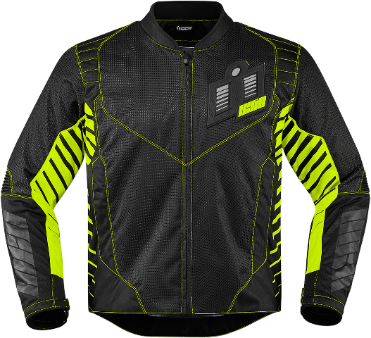 Mens Icon Green Textile Wireform Motorcycle Riding Street Racing Jacket CLOSEOUT
