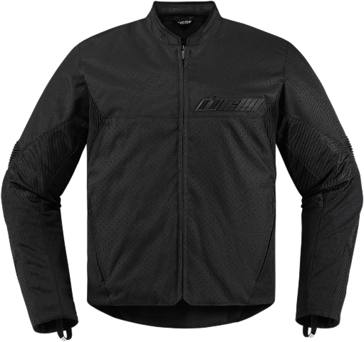 Mens Icon Black Textile Stealth Konflict Motorcycle Street Jacket CLOSEOUT