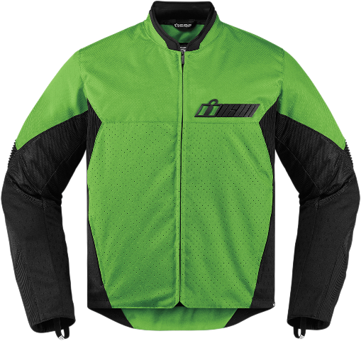 Icon Green Textile Stealth Konflict Motorcycle Street Racing Jacket CLOSEOUT