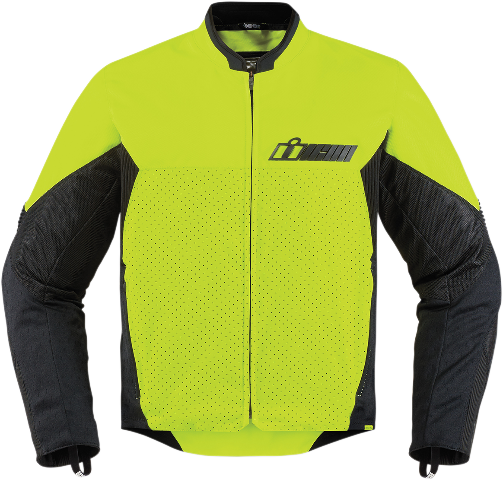 Icon Yellow Textile Stealth Konflict Motorcycle Street Racing Jacket CLOSEOUT