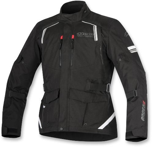 Mens Alpinestars Black Textile Andes V2 Motorcycle Riding Street Racing Jacket