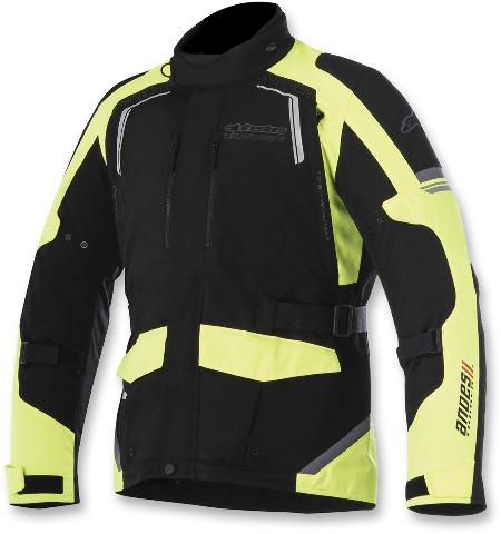 Alpinestars Mens Black Yellow Textile Andes V2 Motorcycle Riding Street Jacket