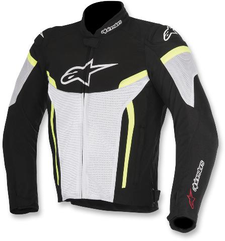 Mens Alpinestars Black Yellow White Textile T-GP Plus R Air V2 Motorcycle Jacket