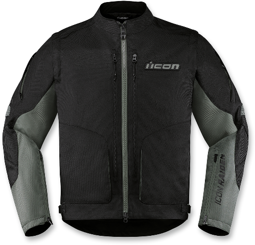 Icon Black Watchtower Textile Motorcycle Riding Street Racing Jacket CLOSEOUT