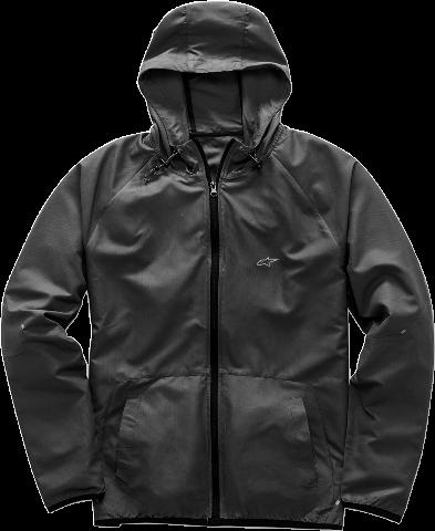Mens Alpinestars Black Textile Data Zipper Front Motorcycle Riding Street Jacket