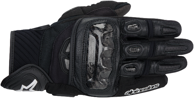 Alpinestars Mens GP Air Black Leather Textile Motorcycle Riding Gloves