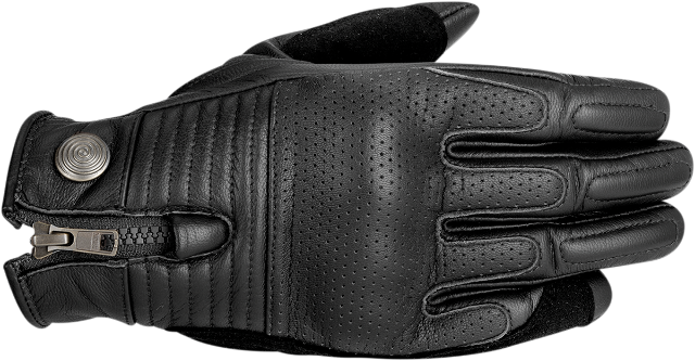 Alpinestars Mens Black Leather Rayburn Motorcycle Riding Street Racing Gloves