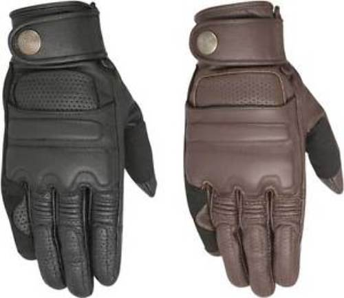 Alpinestars Pair Mens Robinson Leather Motorcycle Riding Street Racing Gloves