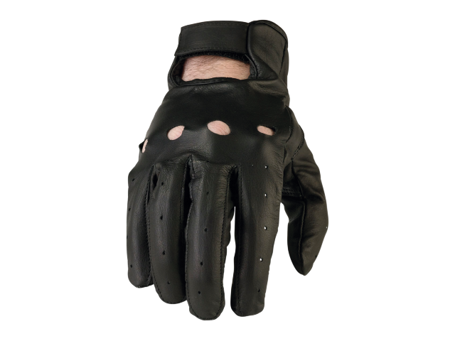 Z1R Mens 243 Black Leather Motorcycle Biker Street Glove